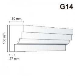 Gzyms elewacyjny G14 80x150 mm