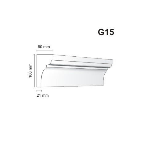 Gzyms elewacyjny G15 80x160 mm
