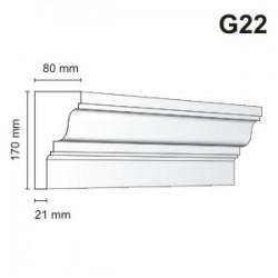 Gzyms elewacyjny G22 80x170 mm