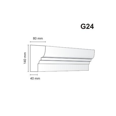 Gzyms elewacyjny G24 80x140 mm
