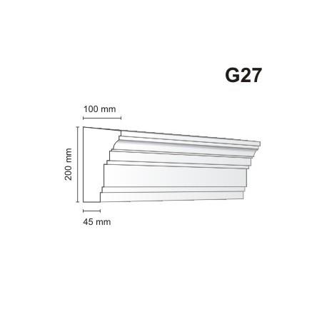 Gzyms elewacyjny G27 100x200 mm