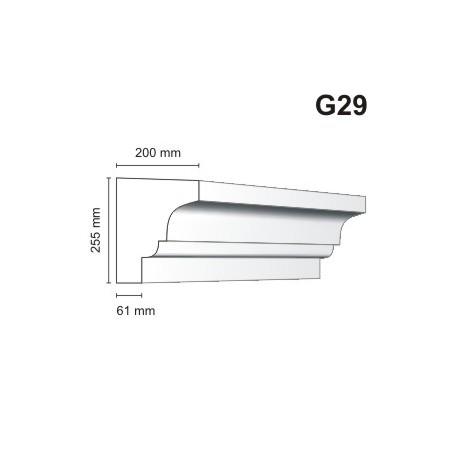 Gzyms elewacyjny G29 200x255 mm