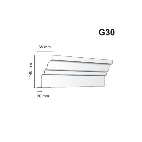 Gzyms elewacyjny G30 65x140 mm