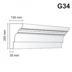 Gzyms elewacyjny G34 130x250 mm