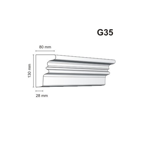 Gzyms elewacyjny G35 80x130 mm