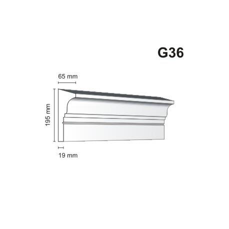 Gzyms elewacyjny G36 65x195 mm