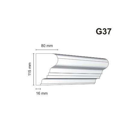 Gzyms elewacyjny G37 80x115 mm