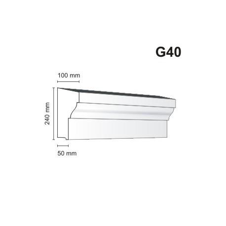 Gzyms elewacyjny G40 100x240mm