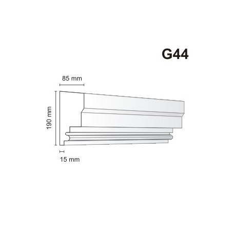 Gzyms elewacyjny G44 85x190mm