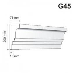 Gzyms elewacyjny G45 75x200mm