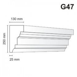 Gzyms elewacyjny G47 130x250mm