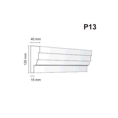 Listwa podokienna P13 40x120mm