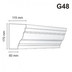 Gzyms elewacyjny G48 115x170mm
