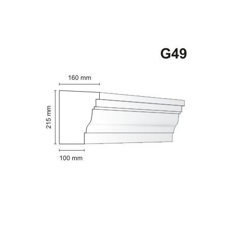 Gzyms elewacyjny G49 160x215mm