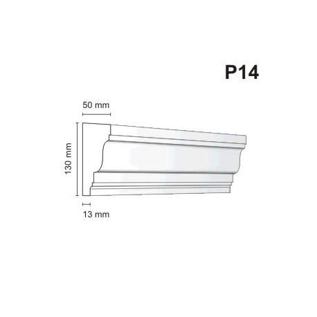 Listwa podokienna P14 50x130mm