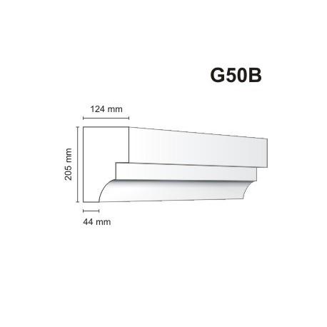 Gzyms elewacyjny G50B 123x205mm
