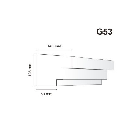Gzyms elewacyjny G53 140x125mm