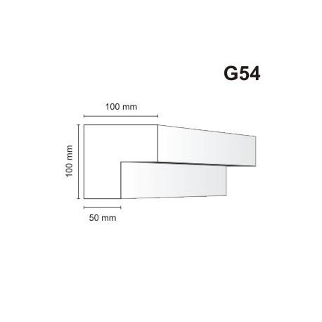 Gzyms elewacyjny G54 100x100mm