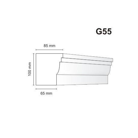 Gzyms elewacyjny G55 85x100mm