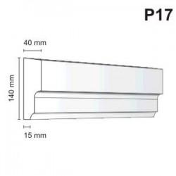 Listwa podokienna P17 40x140mm
