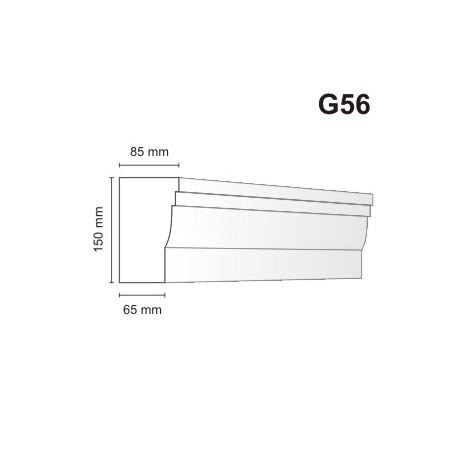 Gzyms elewacyjny G56 85x150mm