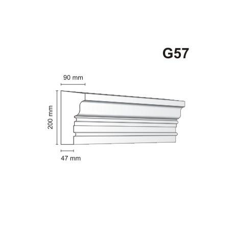 Gzyms elewacyjny G57 90x200mm