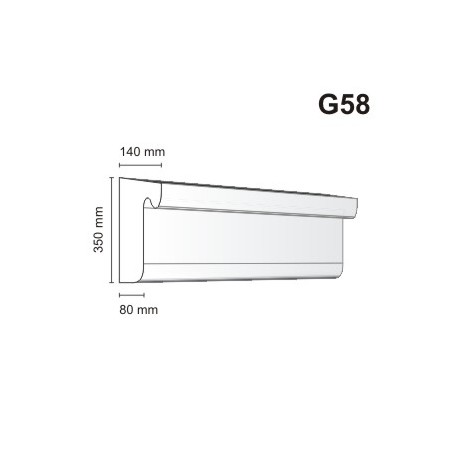 Gzyms elewacyjny G58 140x350mm