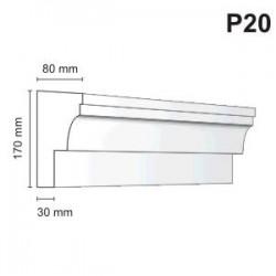 Listwa podokienna P20 80x170mm