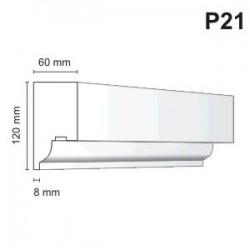 Listwa podokienna P21 60x120mm