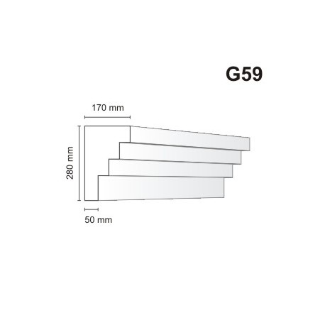 Gzyms elewacyjny G59 170x280mm