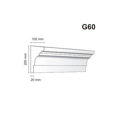 Gzyms elewacyjny G60 100x200mm