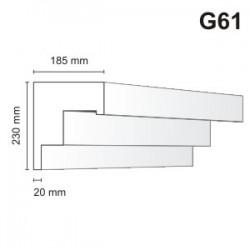 Gzyms elewacyjny G61 185x230mm