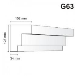 Gzyms elewacyjny G63 102x128mm
