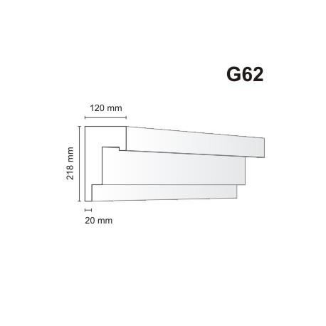 Gzyms elewacyjny G62 120x218mm