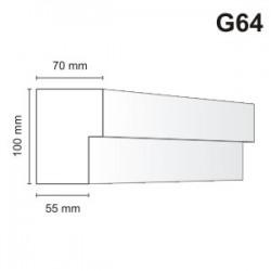 Gzyms elewacyjny G64 70x100mm