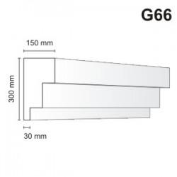 Gzyms elewacyjny G66 150x300mm