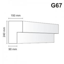 Gzyms elewacyjny G67 150x240mm