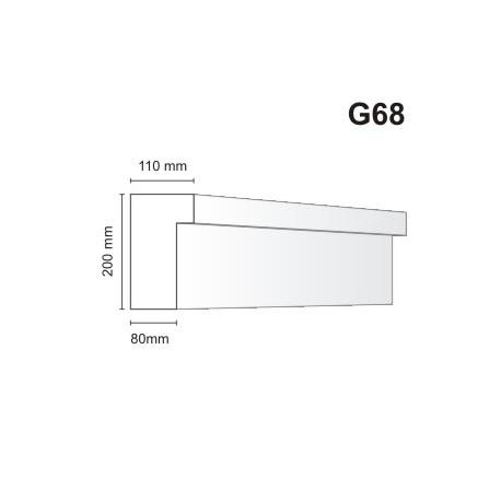 Gzyms elewacyjny G68 110x200mm