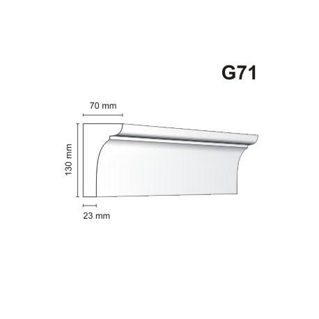 Gzyms elewacyjny G71 70x130mm