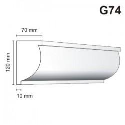 Gzyms elewacyjny G74 70x120mm