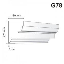 Gzyms elewacyjny G78 180x275mm