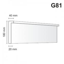 Gzyms elewacyjny G81 40x180mm