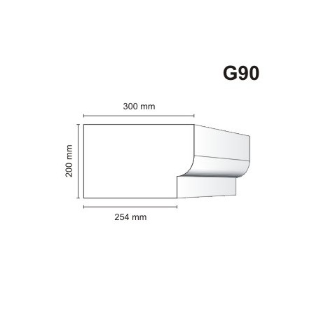 Gzyms elewacyjny G90 300x200mm
