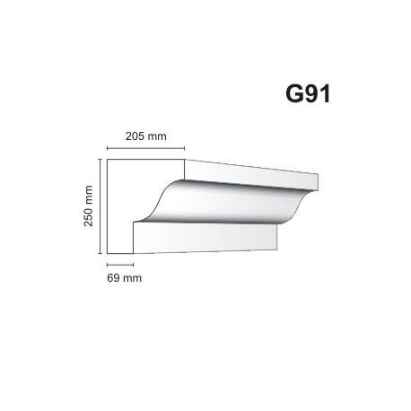 Gzyms elewacyjny G91 205x250mm