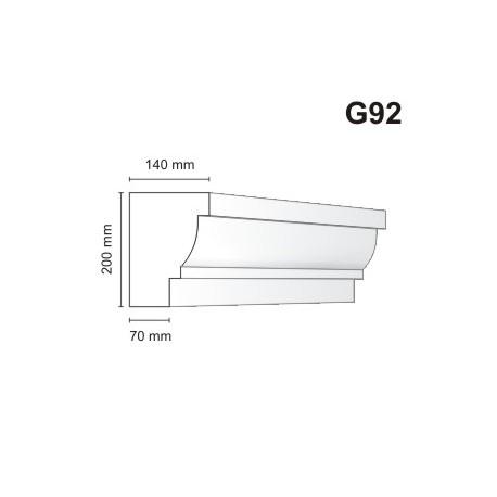Gzyms elewacyjny G92 140x200mm