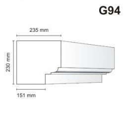Gzyms elewacyjny G94 235x230mm