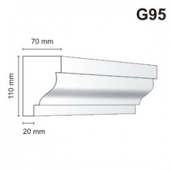 Gzyms elewacyjny G95 70x110mm