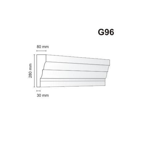 Gzyms elewacyjny G96 80x280m