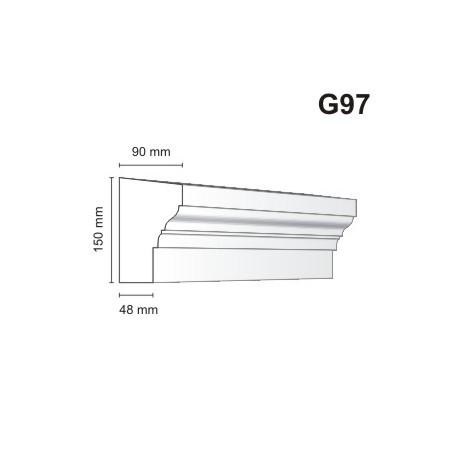 Gzyms elewacyjny G97 90x150mm
