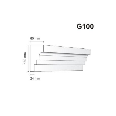 Gzyms elewacyjny G100 80x160mm